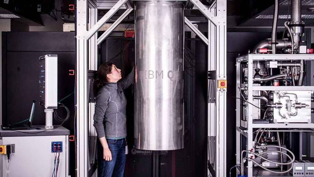 IBM Q, uno de los equipos de computación cuántica de la compañía.