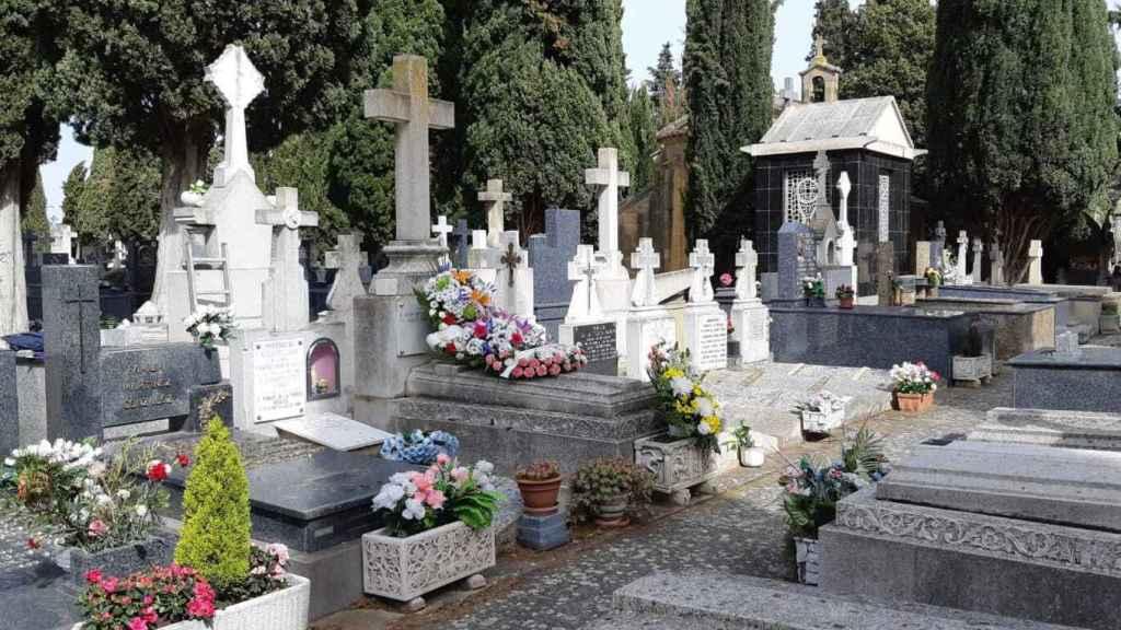 Una tumba en el cementerio de Haro, en La Rioja.