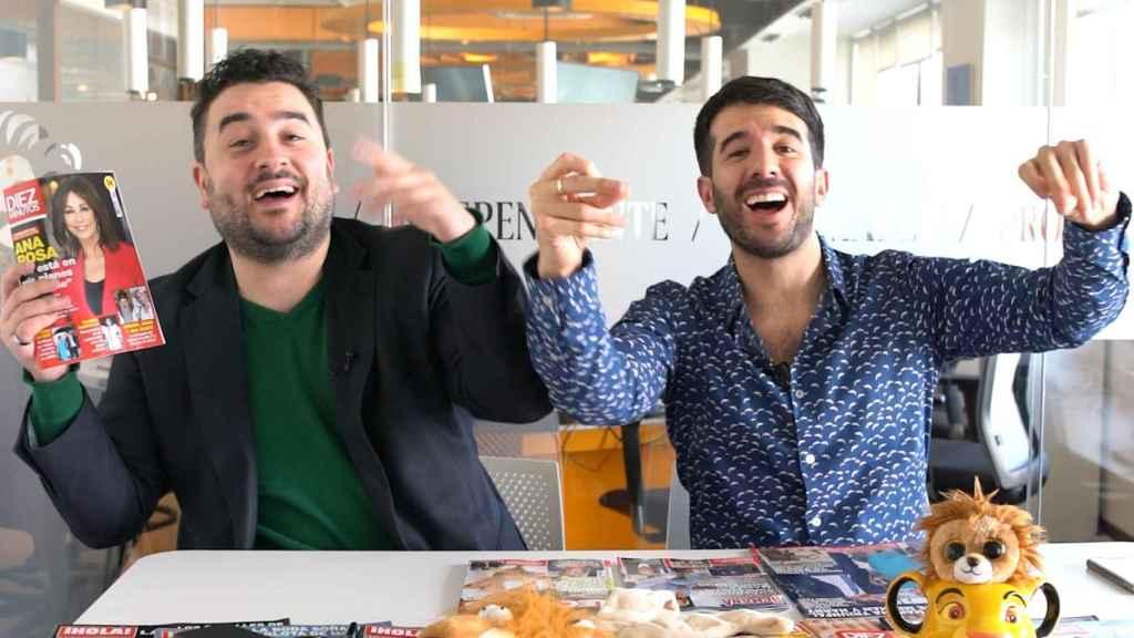 Jesús Carmona y Raúl Rodríguez durante la emisión del kiosco.