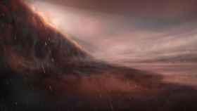 Impresión artística de la atmósfera del planeta WASP-76b.