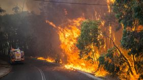 Un incendio forestal en Australia en enero de 2014.