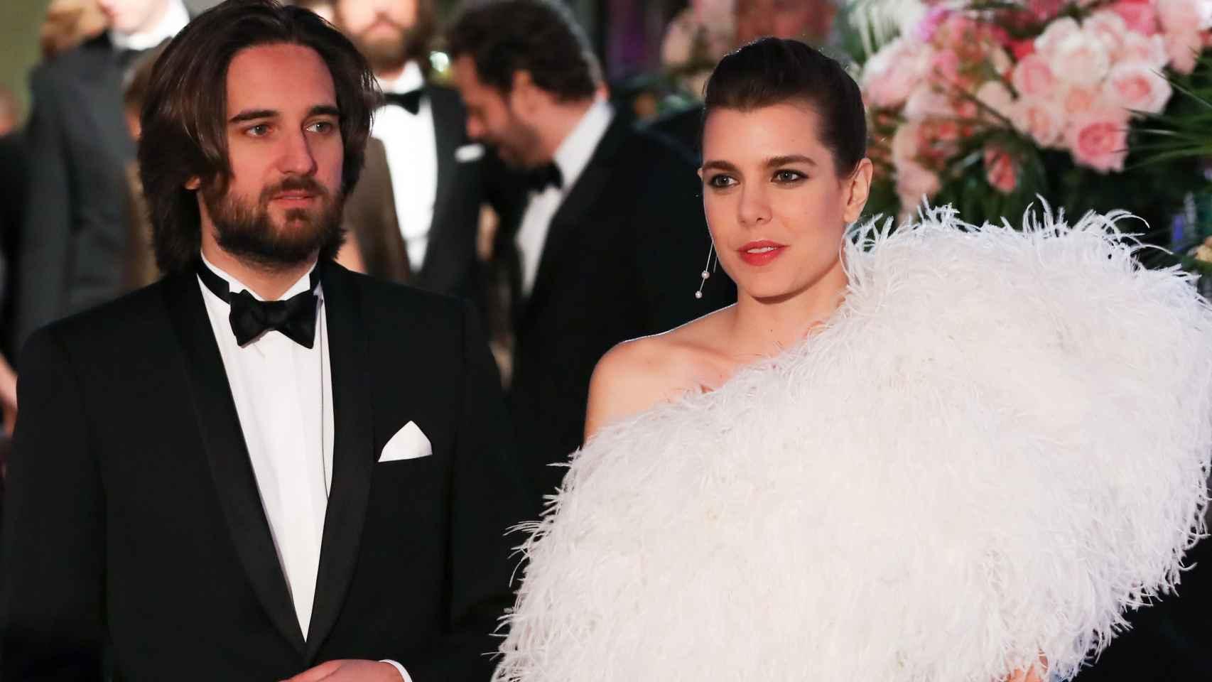 Carlota Casiraghi y el productor Dimitri Rassam en el Baile de la Rosa en 2018.