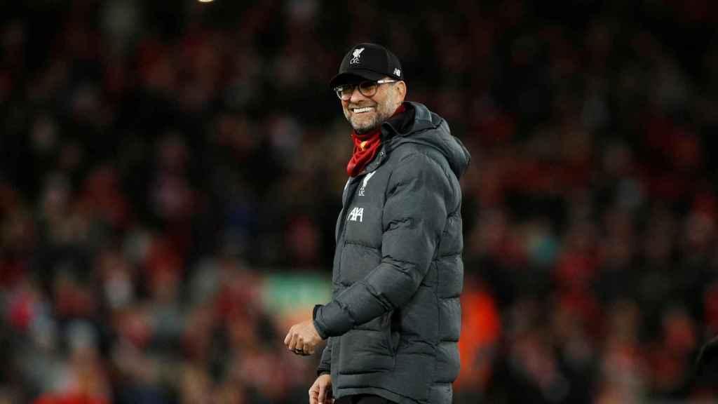 Jürgen Klopp, durante el Liverpool - Atlético de Madrid de la Champions League