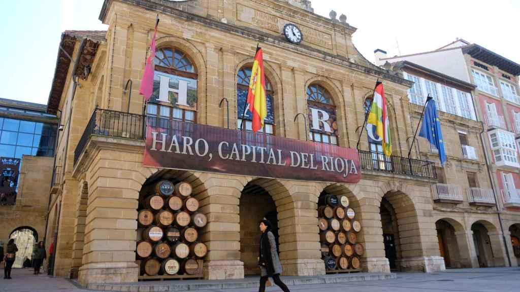 Fachada del Ayuntamiento de Haro (La Rioja).