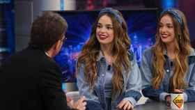Las mellizas Aitana y Paula Etxeberria (Twin Melody), en 'El Hormiguero'.