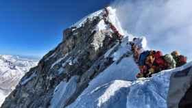 Turistas en el Everest