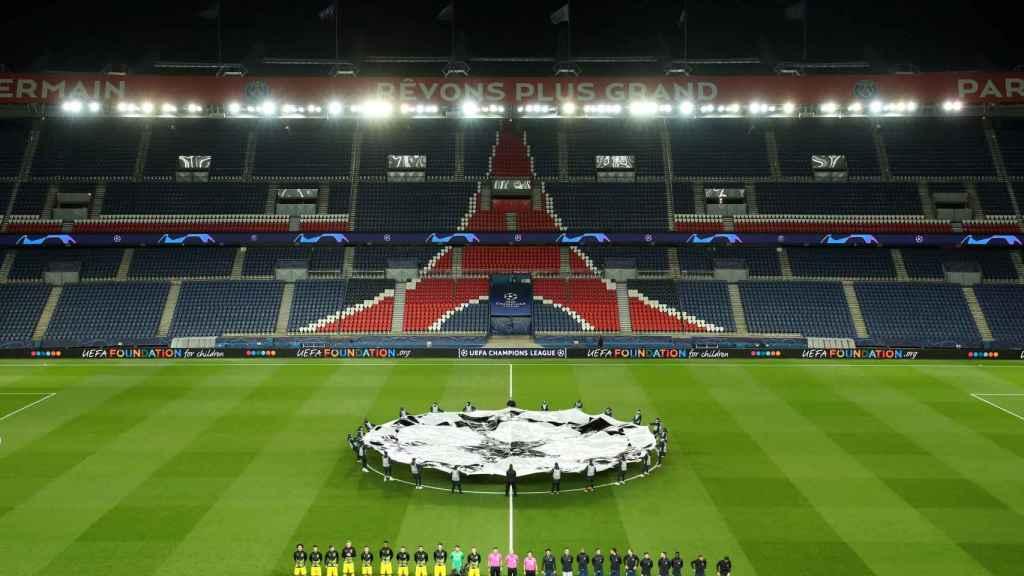 PSG - Borussia Dortmund, con el Parque de los Príncipes vacío