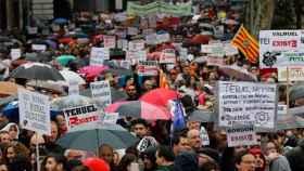 Manifestantes de la España Vaciada el 31 de marzo en Madrid.