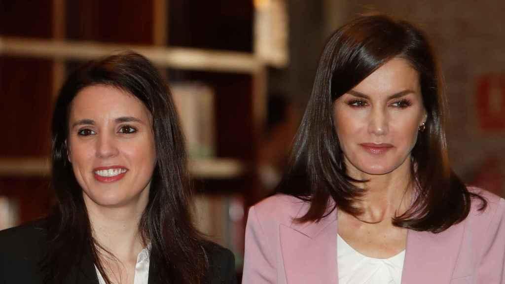 La Reina Letizia junto a Irene Montero el pasado 6 de marzo.