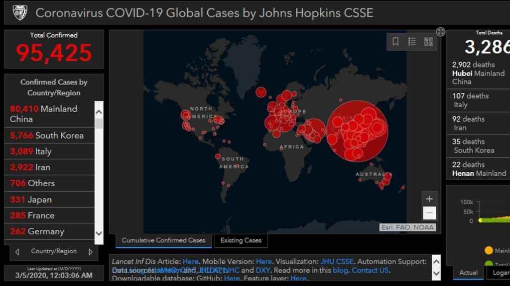 Aplicación falsa que se hace pasar por un mapa del coronavirus