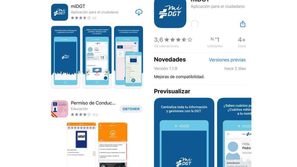 App de la DGT para iPhone