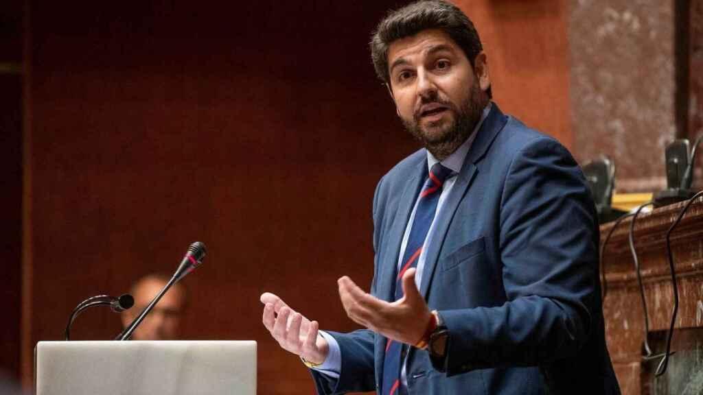 El presidente del Ejecutivo murciano, Fernando López Miras.