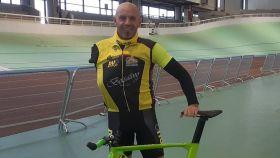 Jorge Orejón, durante una prueba ciclista