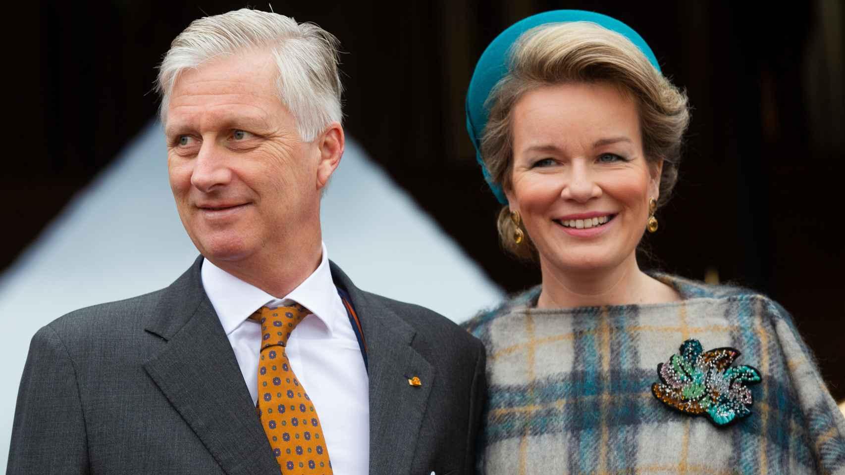 Felipe y Matilde de Bélgica.