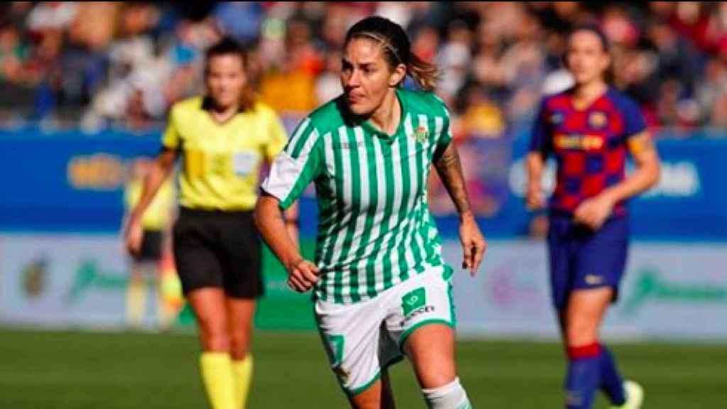 Ana Romero 'Willy, durante un partido con el Real Betis