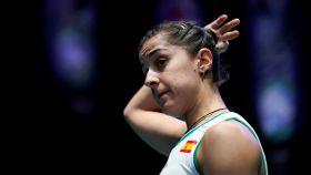 Carolina Marín, durante el All England Open