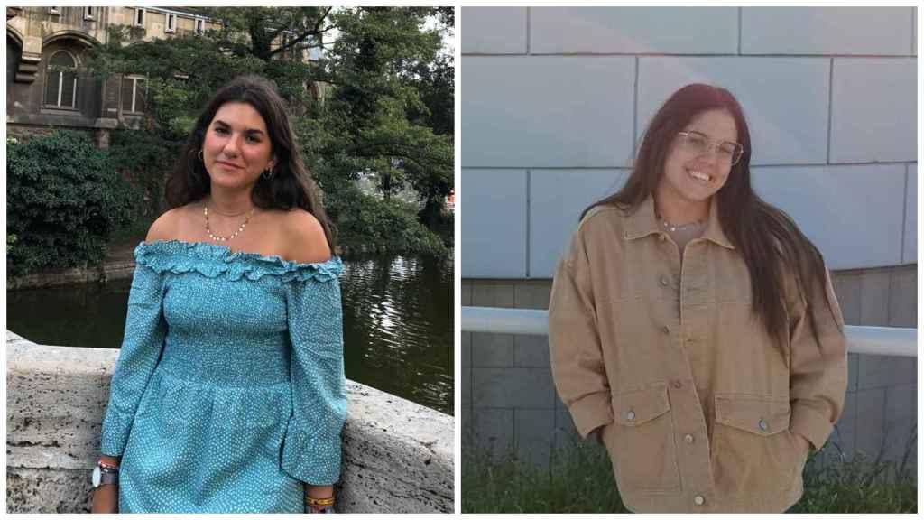 Las estudiantes de universidad, Andrea y Sandra, que se ha ofrecido para el cuidado de niños.