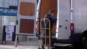 Una furgoneta de reparto en una imagen de archivo.
