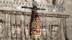 La imagen del Cristo de los Milagros en la catedral de Huesca.