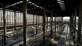 Imagen de la estación de Atocha sin pasajeros.