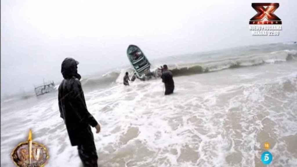 Imagen del temporal que han vivido en Honduras.