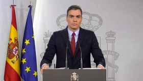 Pedro Sánchez, en la comparecencia posterior al Consejo de Ministros extraordinario.
