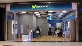 Tienda de Movistar, en una imagen de archivo.