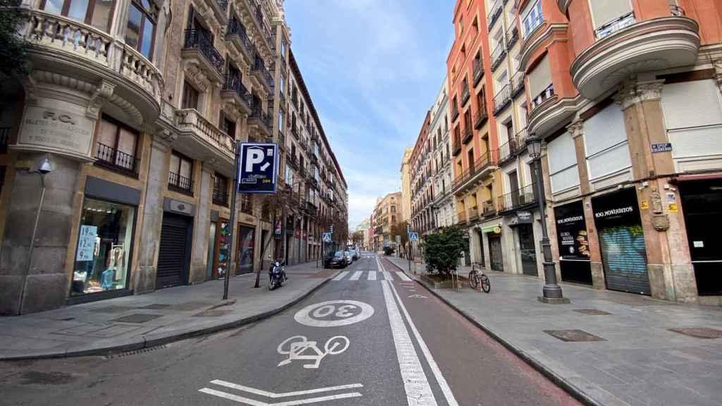 Las calles más céntricas de Madrid parecen una película.