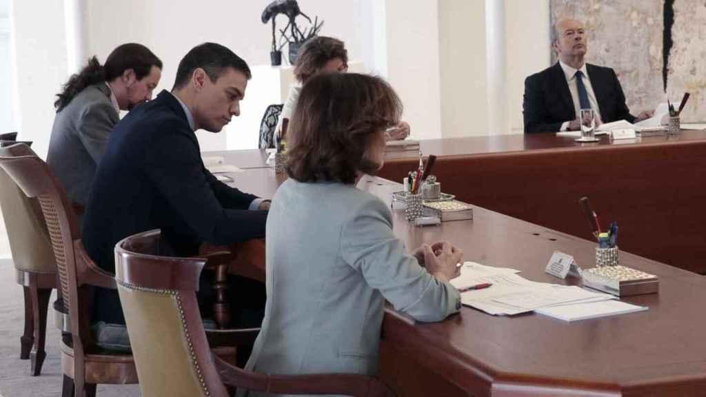 Reunión del Consejo de Ministros para aprobar el estado de alarma./
