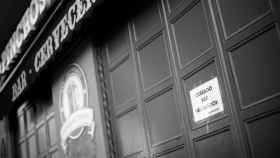 Imagen de un bar cerrado en Madrid.