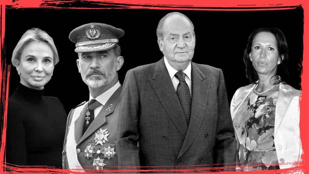 Corinna Larsen, Felipe VI, Juan Carlos I y Marta Gayá