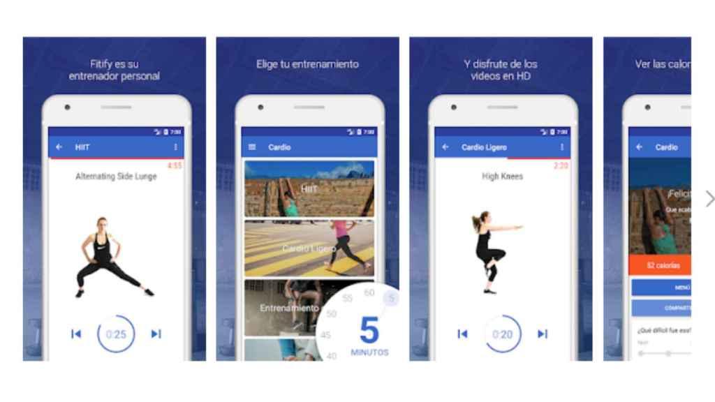 App Hiit y Cardio Entrenamientos.