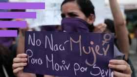 Una manifestación en contra de la violencia de género.