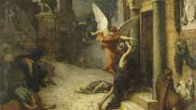 'Peste en Roma', un lienzo de Jules Elie Delaunay.