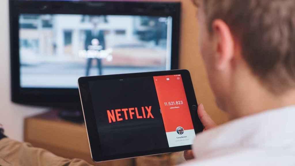 Netflix en una tablet.