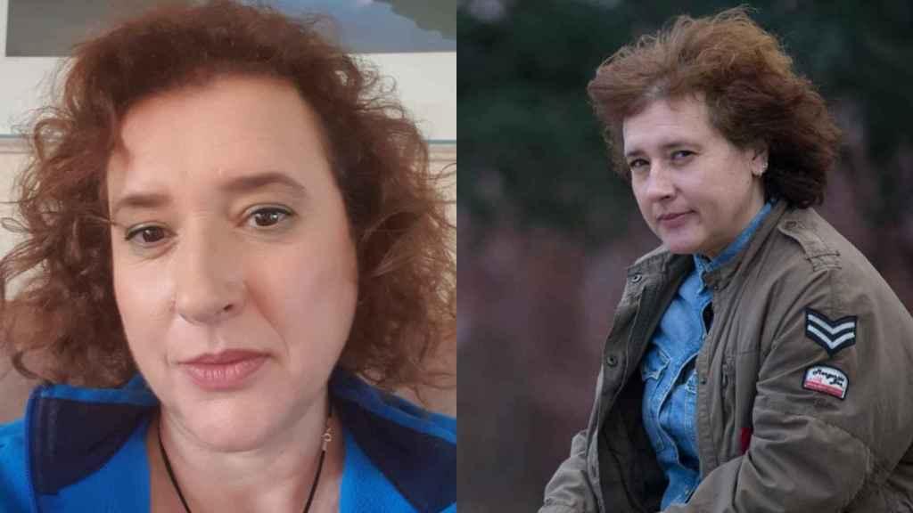 Teresa Romero, a la izquierda en una imagen actual y a la derecha, en 2016.