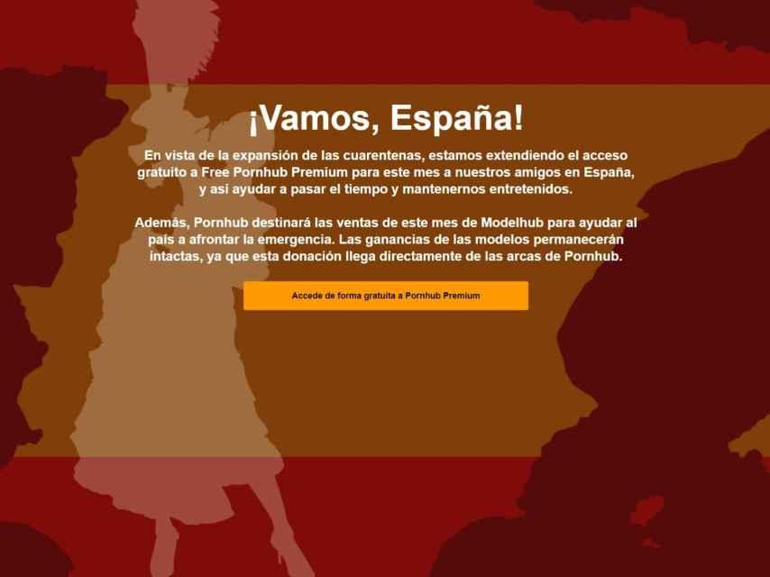 Anuncio de Pornhub en España.
