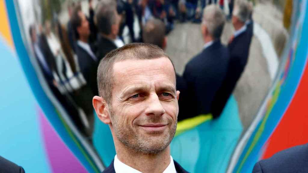 Alexander Ceferin, durante un acto de la Eurocopa