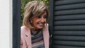 María Teresa Campos en una imagen reciente a las puertas de su casa de Las Rozas.
