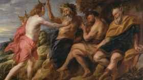 Apolo vencedor de Pan, obra de Jacques Jordaens. En el Museo del Prado.