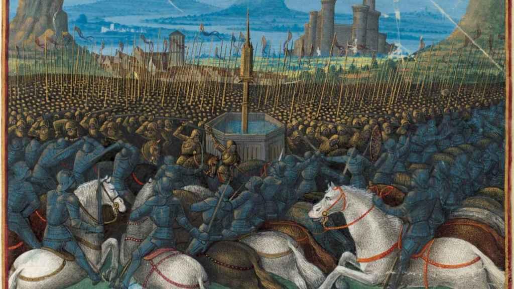 Batalla de los Cuernos de Hattin, momento decisivo de las cruzadas (1187).
