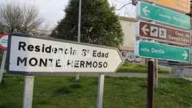 Entrada a la residencia Monte Hermoso, en Madrid.