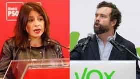 Adriana Lastra (PSOE) e Iván Espinosa de los Monteros (Vox) en un montaje.