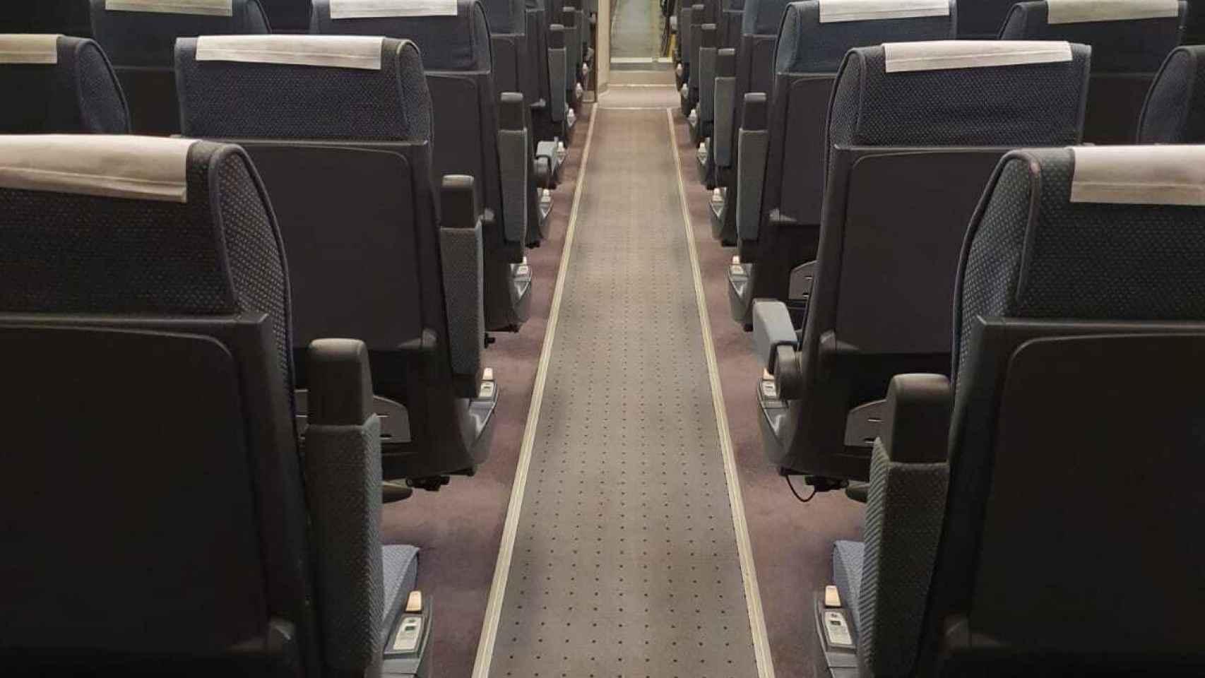 Imagen de un tren de Renfe vacío.