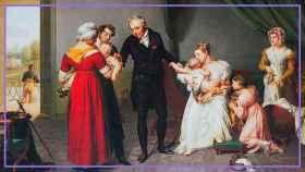 'Vacunación brazo a brazo', un cuadro de Constant Desbordes.