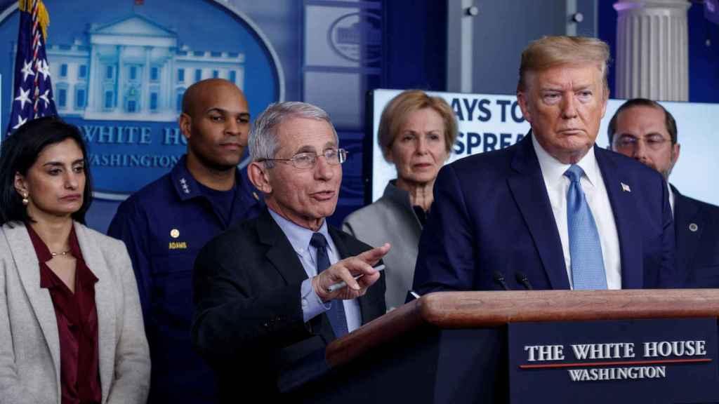Trump, durante una rueda de prensa en la Casa Blanca