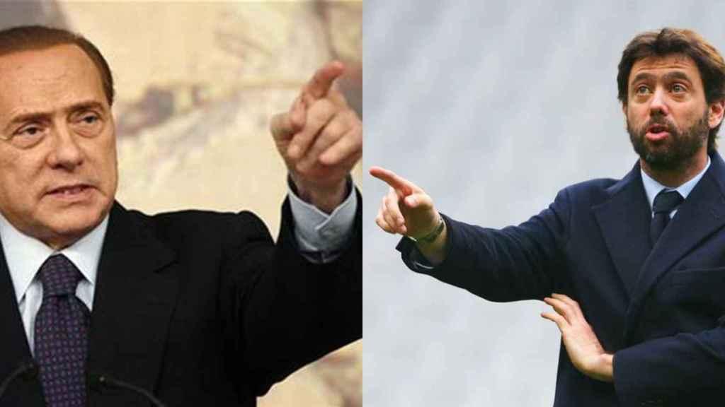Berlusconi y Andrea Agnelli en una imagen de archivo
