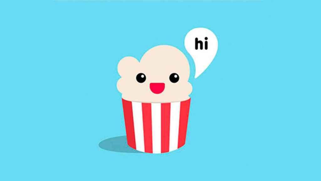 Logotipo de Popcorn Time, la app pirata de streaming