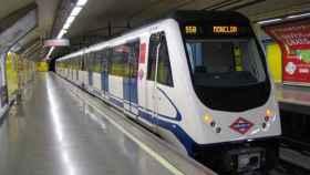 Una de las estaciones de metro de Madrid.