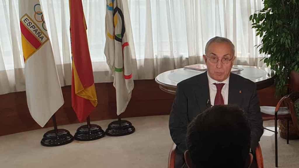 Alejandro Blanco en la sede del COE